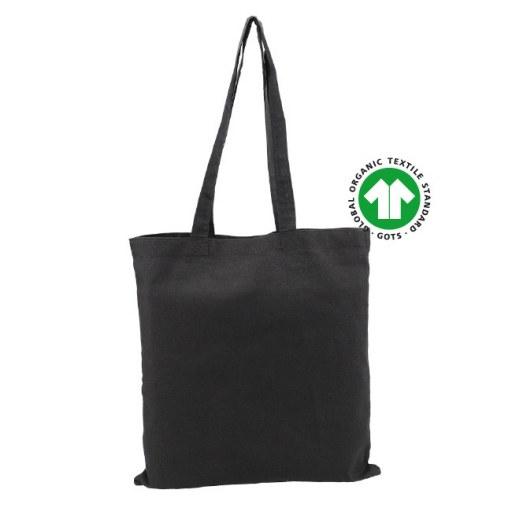 Bolsa de Algodón Orgánico Certificado negra 42x38 (cm)