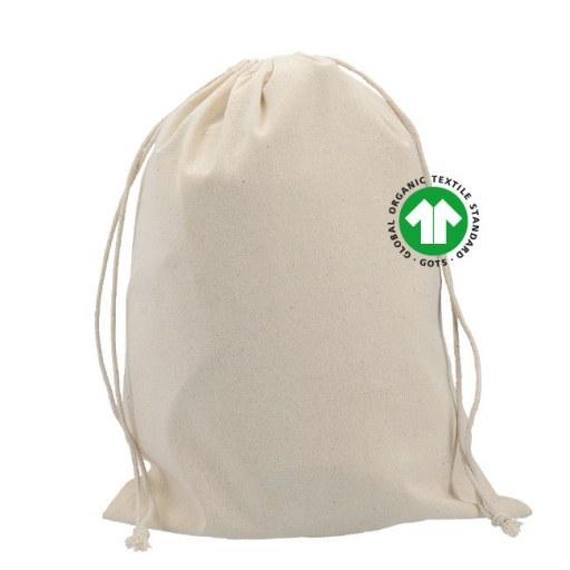 Saquito de Algodón Orgánico Certificado 40x30 (cm)